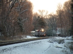 New Jersey Transit Double Header In the Snow 1